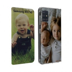 Etui rabattable personnalisé recto verso pour Samsung Galaxy A51 5g