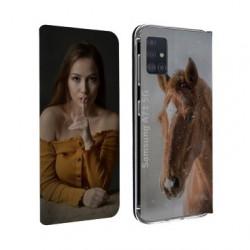 Etui rabattable personnalisé recto verso pour Samsung Galaxy A71 5g