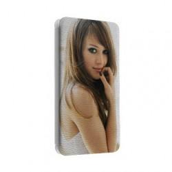 Etui cuir portefeuille personnalisé pour Sony Xperia C4