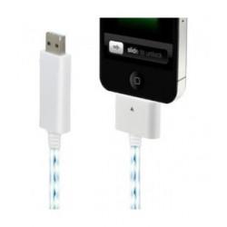 Câble USB LUMINEUX pour Iphone, Ipad et Ipod