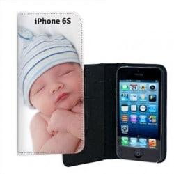 Etui rabattable portefeuille personnalisé pour iPhone 6 S