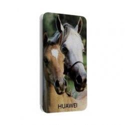 Etui cuir portefeuille personnalisé pour huawei ascend P2 à l'aide d'une photo