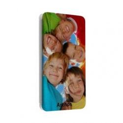 Etui cuir portefeuille personnalisé pour Archos Oxygen + 5.0'' à l'aide d'une photo
