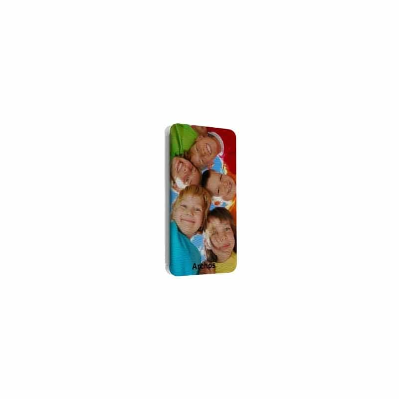 Etui rabattable portefeuille personnalisé pour Archos Oxygen + 5.0'' à l'aide d'une photo