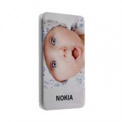 Etui rabattable portefeuille personnalisé pour Nokia asha 230 à l'aide d'une photo