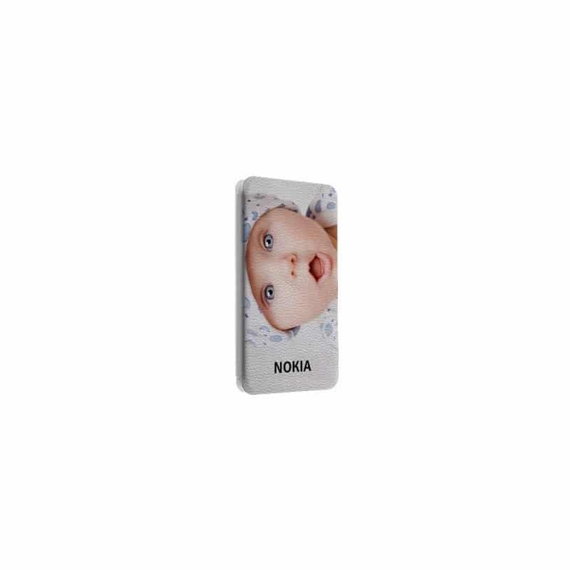 Etui rabattable portefeuille personnalisé pour Nokia asha 501 à l'aide d'une photo