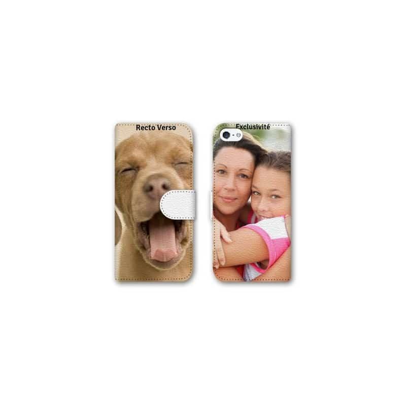 Etui rabattable personnalisé RECTO VERSO pour iPhone 5/5S à l'aide d'une photo