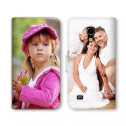 Etui rabattable portefeuille personnalisé pour Samsung Galaxy S4