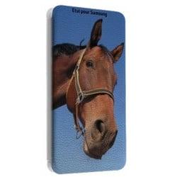 Etui rabattable Portefeuille personnalisé pour Samsung Galaxy wave 2 à l'aide d'une photo