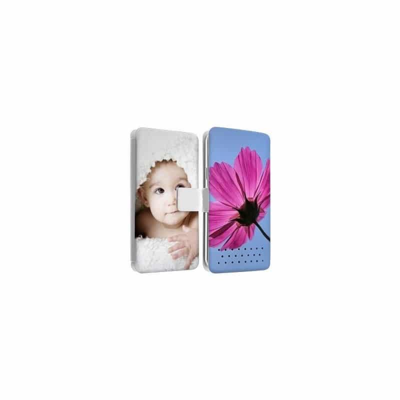 Etui rabattable portefeuille personnalisé pour Huawei mate 8