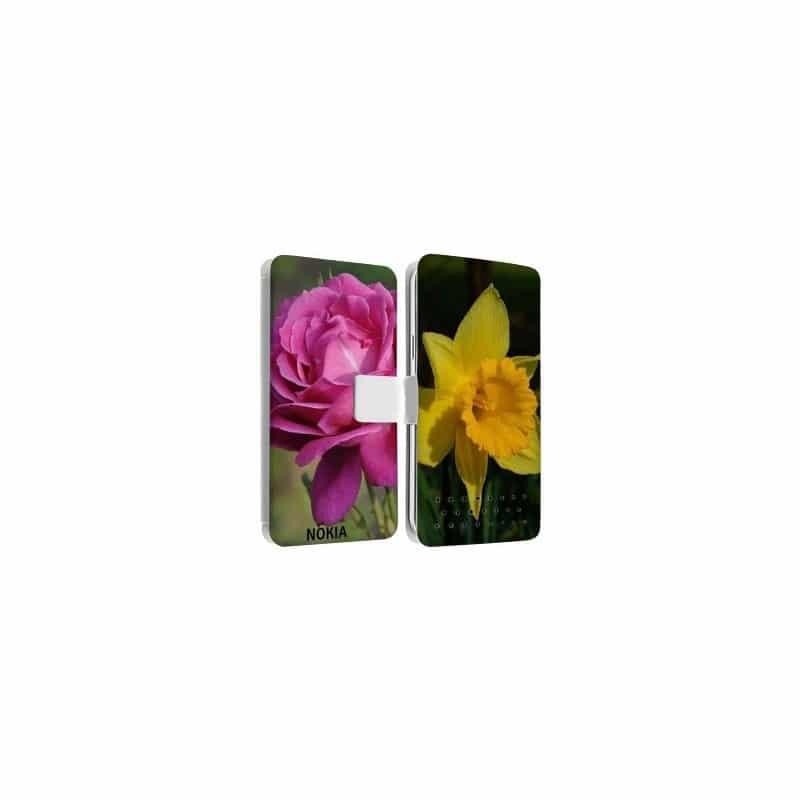 Etui rabattable personnalisé recto verso pour Nokia Lumia 730