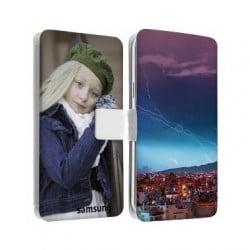 Etui cuir personnalisé recto verso pour Samsung galaxy Trend Duo
