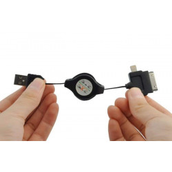 Cable micro usb retractable universel
