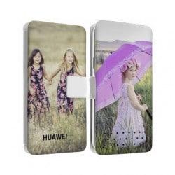 Etui cuir personnalisé recto verso pour Huawei Ascend P8