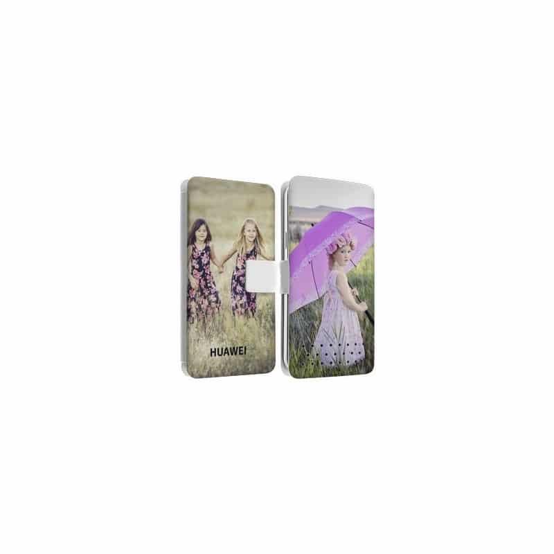 Etui rabattable personnalisé recto verso pour Huawei Ascend G620 S