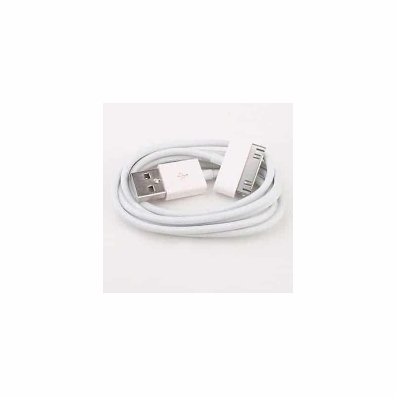 CABLE USB blanc pour iPhone 3, 3gs, 4, 4S et iPod touch 2, 3, 4 et iPad 1, 2, 3
