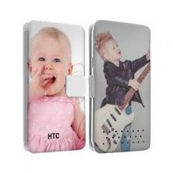 Etui cuir personnalisé recto verso pour HTC ONE M8