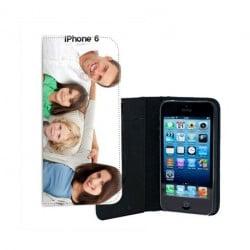 Etui rabattable personnalisé portefeuille pour iPhone 6 à l'aide d'une photo