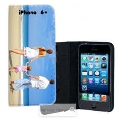 Etui rabattable personnalisé portefeuille pour iPhone 6 Plus à l'aide d'une photo