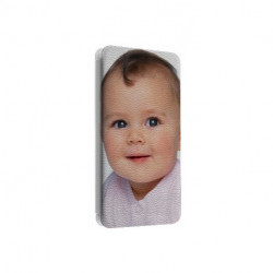 Etui rabattable portefeuille personnalisé pour Samsung Galaxy Note Edge à l'aide d'une photo