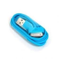 CABLE USB bleu pour iPhone 3, 3gs, 4, 4S et iPod touch 2, 3, 4 et iPad 1, 2, 3