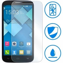 FILM de protection EN VERRE TREMPE pour ALCATEL POP C9