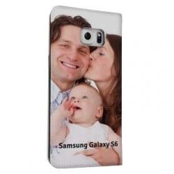 Etui cuir portefeuille personnalisé pour Samsung Galaxy S6 à l'aide d'une photo