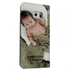 Etui cuir portefeuille personnalisé pour Samsung Galaxy S6 Edge plus à l'aide d'une photo