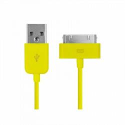 CABLE USB de couleur jaune pour iPhone 3, 3gs, 4, 4S et iPod touch 2, 3, 4 et iPad 1, 2, 3