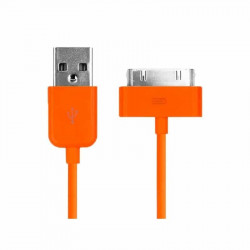 CABLE USB de couleur ORANGE pour iPhone 3, 3gs, 4, 4S et iPod touch 2, 3, 4 et iPad 1, 2, 3