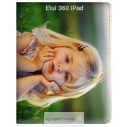 Etui cuir 360 personnalisé pour iPad 2017 à l'aide d'une photo