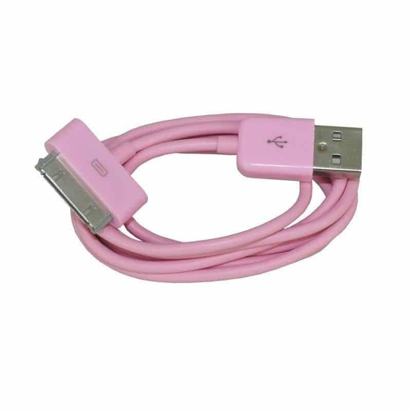 CABLE USB de couleur ROSE pour iPhone 3, 3gs, 4, 4S et iPod touch 2, 3, 4 et iPad 1, 2, 3
