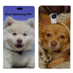 Etui rabattable portefeuille personnalisé pour Samsung Galaxy S9 PLUS