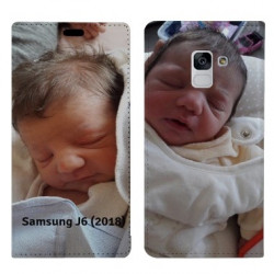 Etui rabattable portefeuille personnalisé pour Samsung Galaxy J6 (2018)