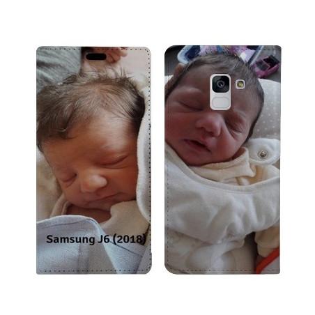Etui rabattable portefeuille Recto verso à personnaliser Samsung Galaxy J6 (2018)