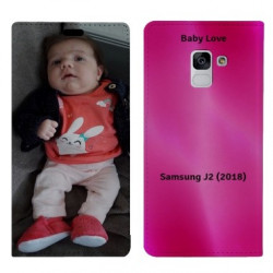 Etui rabattable portefeuille personnalisé pour Samsung Galaxy J2 (2018)