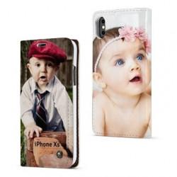 Etui rabattable personnalisé portefeuille RECTO VERSO pour iPhone Xs Max à l'aide d'une photo