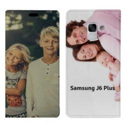 Etui rabattable personnalisé recto verso pour Samsung Galaxy J6 Plus