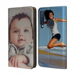 Etui rabattable portefeuille personnalisé pour Samsung Galaxy A40