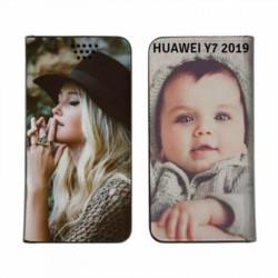 Etui rabattable personnalisé recto verso pour huawei Y7 2019/Y7 PRO 2019