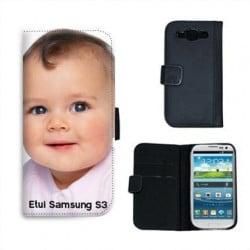 Etui cuir portefeuille personnalisé pour Samsung Galaxy S3 à l'aide d'une photo