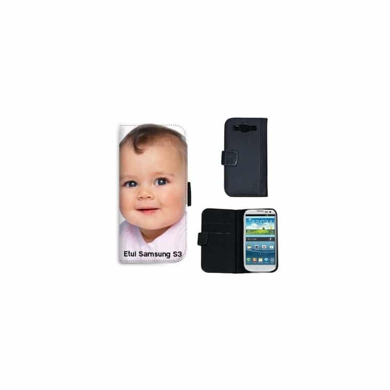 Etui rabattable portefeuille personnalisé pour Samsung Galaxy S3 à l'aide d'une photo