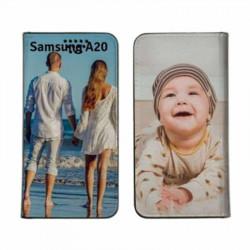 Etui rabattable personnalisé recto verso pour Samsung Galaxy A20