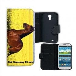 Etui cuir portefeuille personnalisé pour Samsung Galaxy S3 mini à l'aide d'une photo