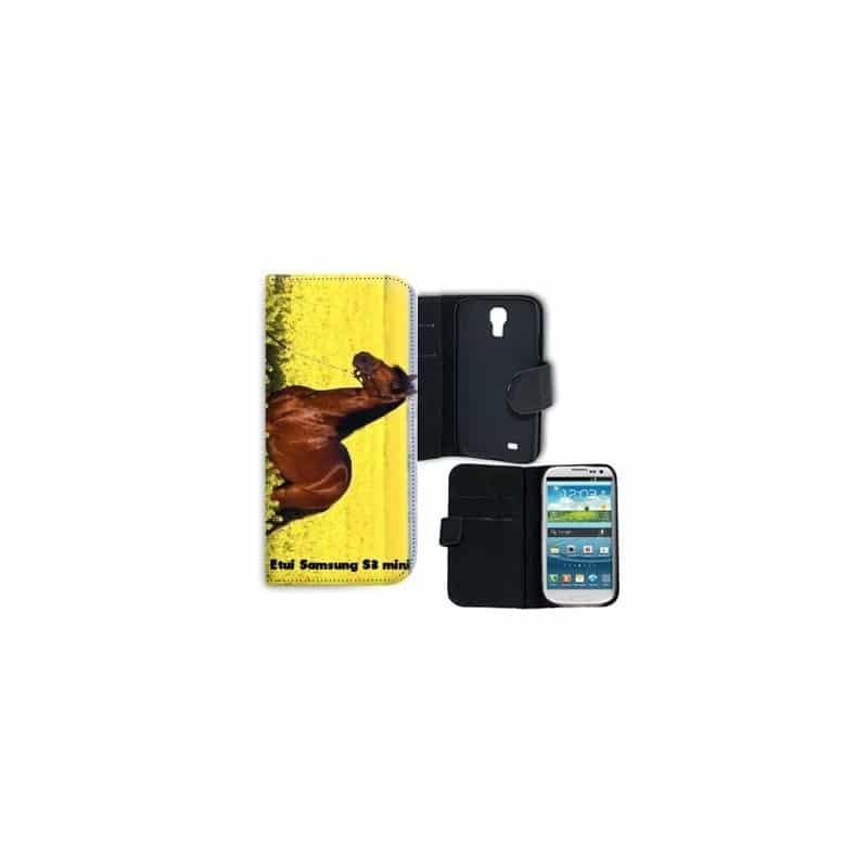 Etui rabattable portefeuille personnalisé pour Samsung Galaxy S3 mini à l'aide d'une photo