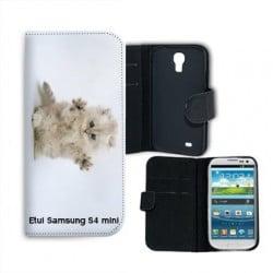 Etui cuir portefeuille personnalisé pour Samsung Galaxy S4 mini à l'aide d'une photo