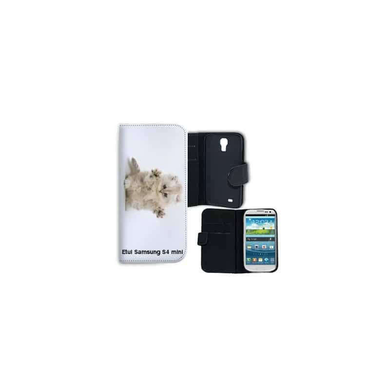 Etui rabattable portefeuille personnalisé pour Samsung Galaxy S4 mini à l'aide d'une photo