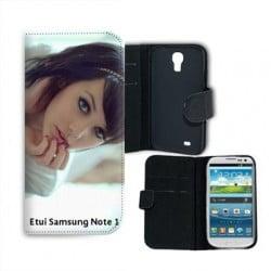 Etui cuir portefeuille personnalisé pour Samsung Galaxy Note à l'aide d'une photo