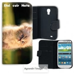 Etui rabattable portefeuille personnalisé pour Samsung Galaxy Note 3 à l'aide d'une photo