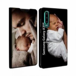 Etui rabattable portefeuille personnalisé pour Samsung Galaxy A30